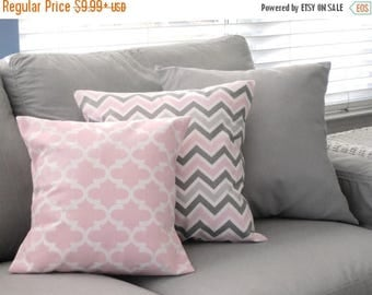 CLEARANCE Pillow Cover, Pillows, Decorative Pillow, Decorative Throw Pillow, Pink Pillows, Gray Pillows, Baby, Nursery, Nursery Pillows, Bab