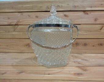 Vintage Cut Glass Ice Bucket
