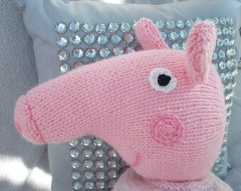 SALE*Bedtime Hand Knitted Peppa Pig Toy