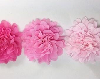 Flower / Bight Pink/ Light Pink/ Pink flower dog collar accessory