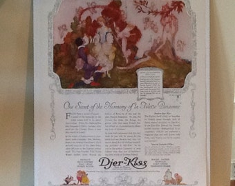 Djer-Kiss Cosmetic Advertising Page from Ladies Home Journal, 1921