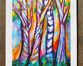 Trees - 11'' x 14''