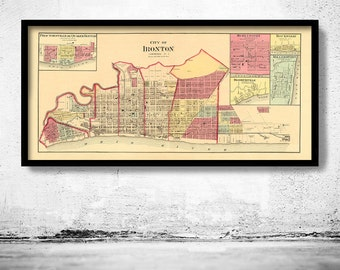 Old map of Ironton Ohio 1877