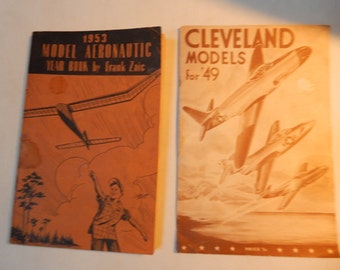1953 Model Airplane Yearbook and 1949 Cleveland Models