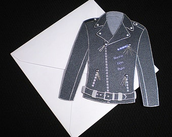 Father's Day card with perfecto black