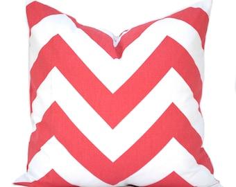 "One Coral pillow cover, Coral Zig Zag Pillow,  Home decor, decorative pillow, throw pillow, Orange Pillow, Coral Pillow, 14"", 16"", 18"", 20"""