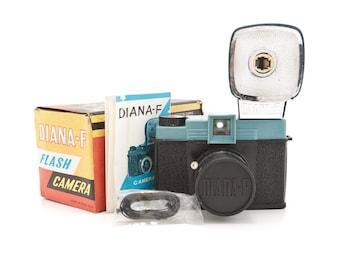 Original Diana-F Flash Camera No 162 with original box manual strap - 120 film Camera Rare vintage 1960s toy camera