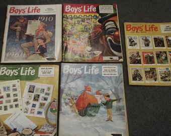 Vintage Boys Life Magazines 1960's