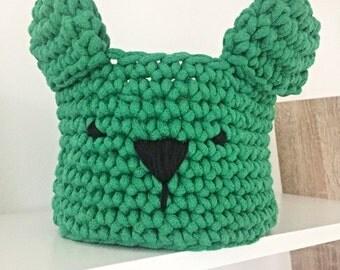 Crochet Bear Basket