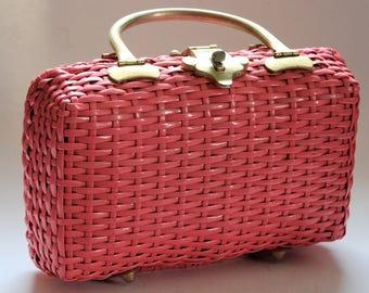 "Fabulous ""Wicka Weave"" for Jana pink woven purse"