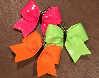 Cheer Bow Key Chain--NEON colors