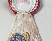 Joyful Corsage/Prize Ribbon