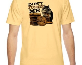 Don't Judge Me Squirrel Graphic American Apparel Fine Jersey T-shirt Rc14165