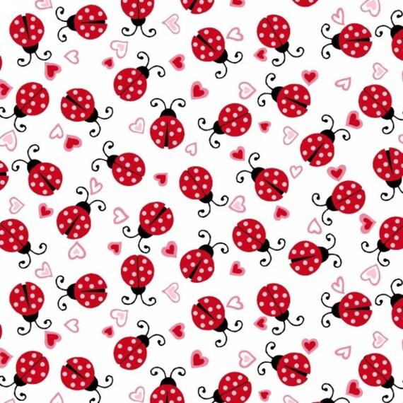 Dear Heart Ladybug Fabric