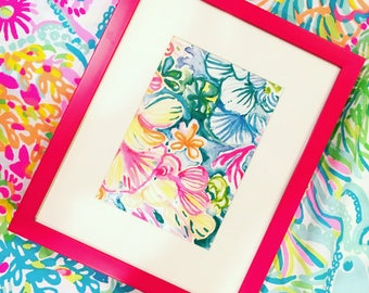 Lilly Pulitzer catalog print! Picture Frame is a 11x9!