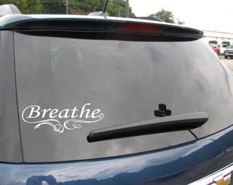 Breathe Car Window Vinyl Decal