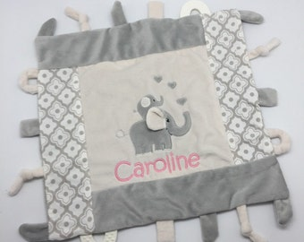 Baby girl gifts etsy personalized baby girl gift blankie toy minky blanket personalized baby gift monogram negle Image collections