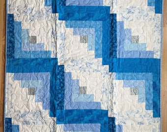 Baby/Toddler or Lap Quilt:  Blue