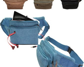 Canvas Fanny Pack 3001 Music Festival Hip Pouch Iphone 7 Cover Holder Belly Travel Waist Belt.