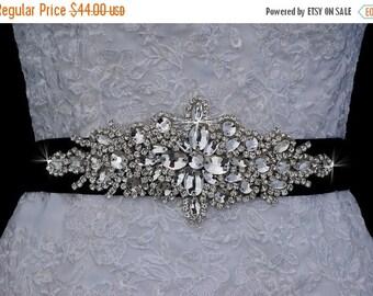 Black Bridal Sash Belt , Wedding Sash Belt , Handmade Crystal Rhinestone Sash Belt , Wedding Sash , Bridal Belt , Bridal Sash