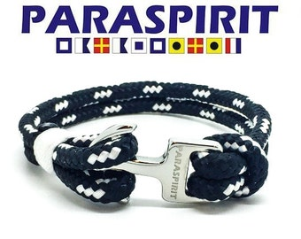 """Paraspirit """"CRUISER"""" Nautical Rope Bracelet with Stainless Steel Anchor Clasp"""