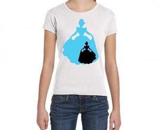 Disney Princesses Silhouettes - DIY Iron On Transfer - Cinderella
