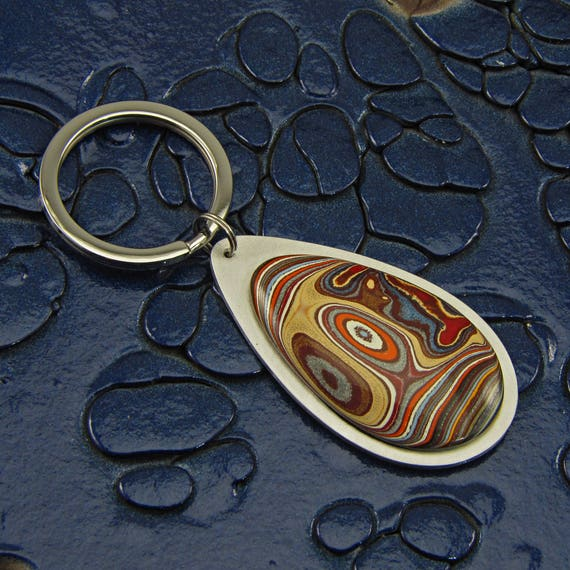 Rare 1969 Ford Mustang Fordite Keychain