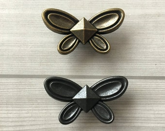 butterfly knob dresser drawer pulls handles knobs antique bronze black cabinet door handle pull knob vintage