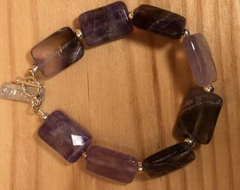 Ametyst and Sterling Silver Bracelet