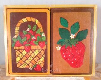 "Hallmark ""Strawberry Patch"" Bridge Playing Cards"