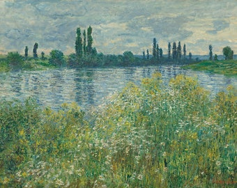 "Claude Monet : ""Banks of the Seine, Vetheuil"" (1880) - Giclee Fine Art Print"