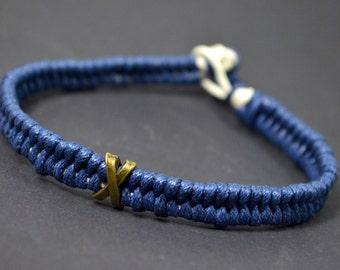 Blue men bracelet