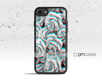 Trippy 3D Roses Case Cover for Apple iPod Touch & iPhone 4/4s/5/5s/5c/6/6s/7/Plus/SE