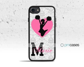 Personalized Cheerleader Cheer Case Cover for Apple iPod Touch & iPhone 4/4s/5/5s/5c/6/6s/7/Plus/SE