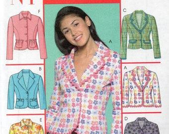 McCall's NYNY Juniors Pattern 5058 SIX JACKETS 11/12 13/14 15/16 17/18
