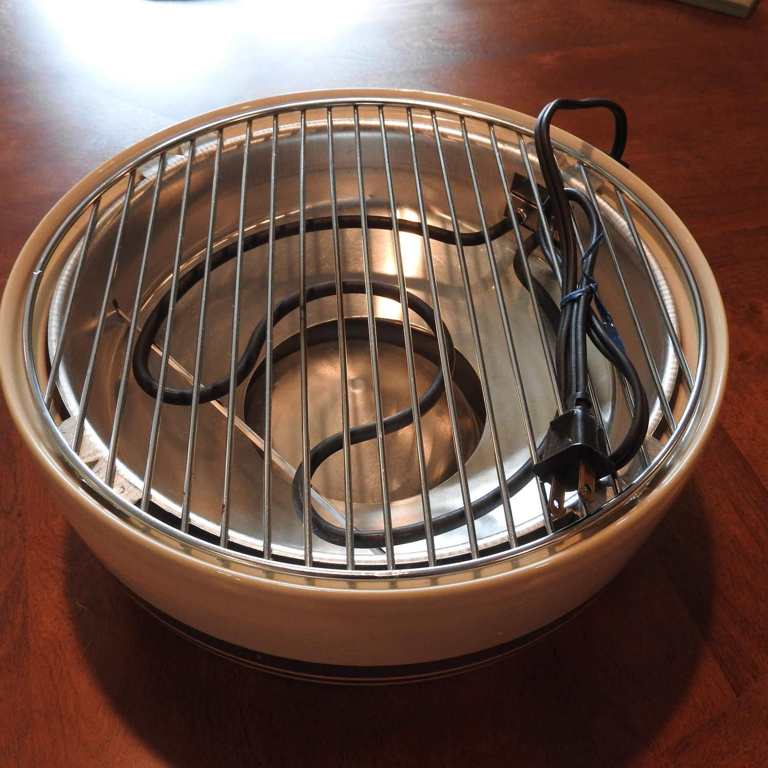 Vintage Ceramic Electric Indoor Grill Char B Que Porcelain
