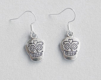 Earrings Sugar Skull, dias de los Muertos, Day of the Dead, Halloween, Mexico