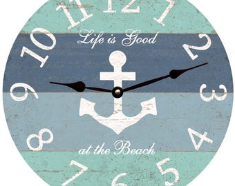 Nautical Anchor Wall Clock- Personalized