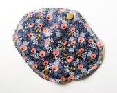 Lucy & Mabs Cotton Bamboo Wrap Style Reusable Pantyliner/ Rifle Paper and Co Les Fleurs