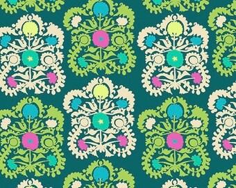SALE Amy Butler Dreamweaver  / PWAB156.lakex /Embroidery in Lake   /Fabric Canada/ half yard