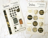 Marble & Gold Planner Stickers Bundle