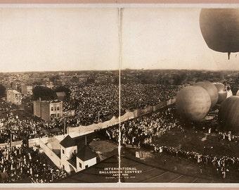 International Ballooning Contest, Aero Park, Chicago, July 4, 1908