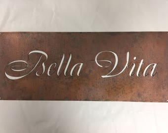 Custom metal sign with YOUR NAME or Business name