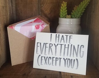 Handwritten Card - Funny Card for any occasion