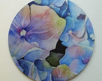 Hydrangea  Fine Art Mouse Pad Original Watercolor