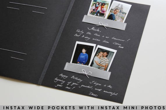 wedding album black instant guest book black pages instax. Black Bedroom Furniture Sets. Home Design Ideas