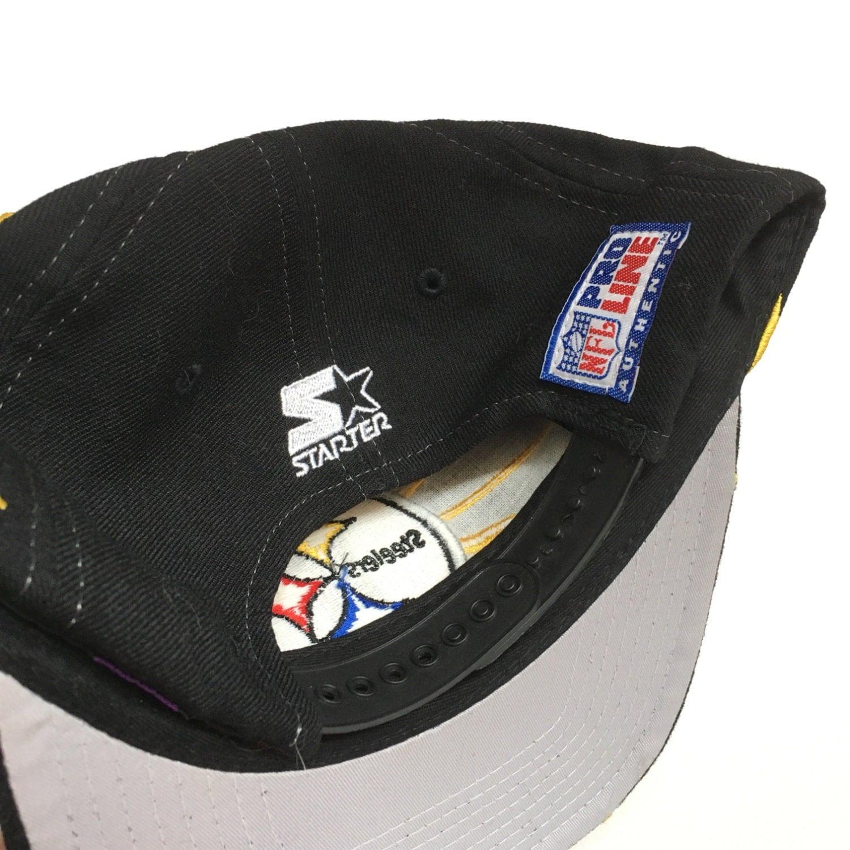 b886f0ec467 Vintage 90s Pittsburgh Steelers NFL Starter Shockwave Snapback Hat ...