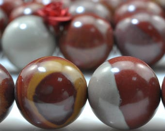 31 pcs of Australia red Picture Jasper smooth round beads in 12mm