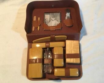 Antique 1940's Men's Travel Set