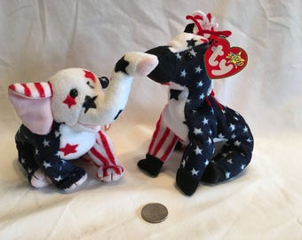 Beanie Babies Righty and Lefty Political Set